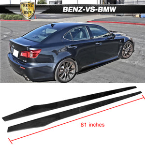 Universal Fits Most Car 81 Inch Side Skirt Extension Flat Bottom Line Lip Cf