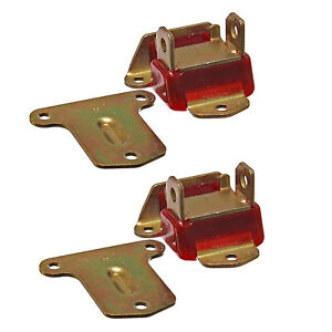 Early Sbc Bbc Engine Motor Mounts Polyurethane 2 3 8 Wide Red Zinc Pair