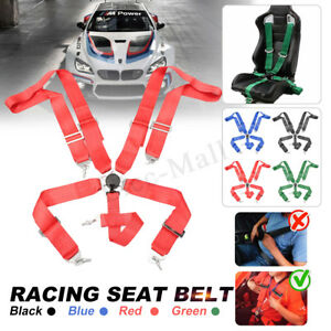 5 Point Adjustable Racing Safety Harness Camlock Strap Seat Belt Quick Release