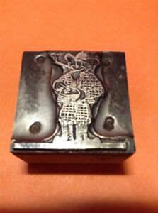 Vintage Metal On Wood Printing Block Texas Millionaire