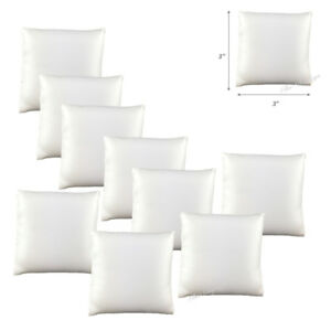 12pc White Watch Displays White Faux Leather Pillows Watch Bracelet Displays 3x3