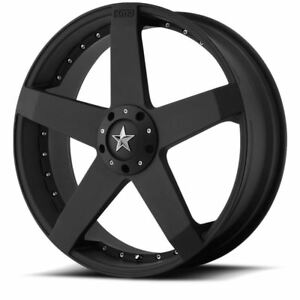 4 New 20x8 42 Kmc Xd775 Rockstar Matte Black Wheels Rims 5x108 5x114 3