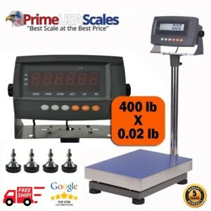 440 Lb Industrial Digital Bench Shipping Scale Rechargeable Battery 12 X 16