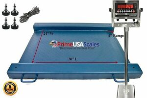 Floor Scale Drum Scale Stainless Steel Indicator 2000 Lb Legal For Trade Stand