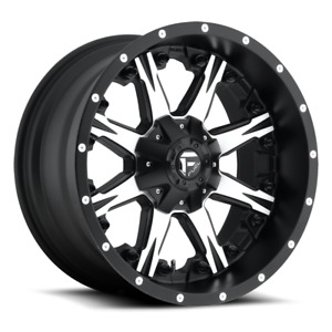1 New 20x10 12 Fuel D541 Nutz Black Machined 8x6 5 Wheel Rim