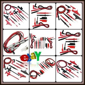 Automotive Test Lead Kit Insulation Black red Stainless Steel Non destructive