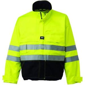 Men s Construction Workers Protective Safety Jacket Size Small Yellow charcoal
