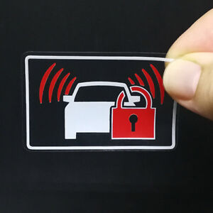 4 Car Alarm Decals Inside Or Outside Glass Security System Window Stickers