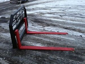 54 Skidsteer Pallet Forks 4000lb Capacity Univ Fit For Bobcat Jd nh Cat