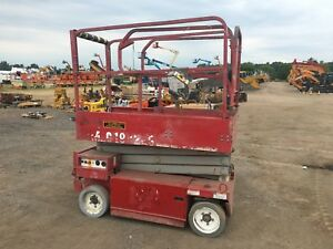 2007 Mec 1932 Scissor Lift 19 Deck Hgt 25 Work Hgt 24v Fully Operational Hd
