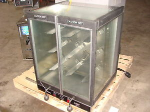 Old Hickory Bar b q Bbq Cook Chicken Rotisserie Oven Clear Display Case