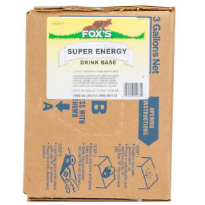 Fox s Super Energy Drink Syrup 3 Gallon Bag In Box Bib For Soda Fountain Fox