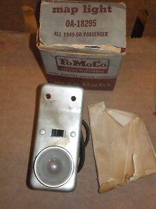 Nos 1949 50 Ford Passenger Fomoco Accessory Map Light Oa 18295