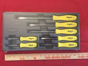 Snap On Screwdriver Sddx70a 7pc Set Yellow Handle Special Edition
