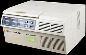 Beckman Accuspin Fr 4500rpm Refrigerated Centrifuge W 1 94 Swing Bucket Rotor