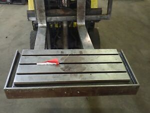 33 75 X 15 75 X 4 Steel Weld T slot Table Cast Iron Layout 4 Slot Jig
