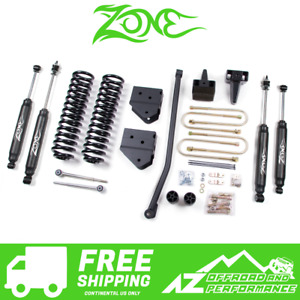 Zone Offroad 4 Suspension System Lift Kit 05 07 Ford F250 F350 Super Duty