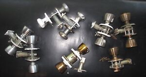 Lot Of 9 Vintage Weiser National Kwikset Door Knobs Mcm