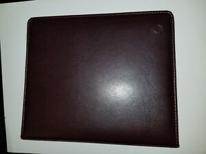 Used Franklin Covey Brown Faux Leather 7 Ring Planner Binder Organizer 8 X 9