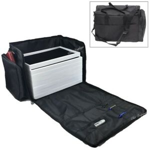 Deluxe Carrying Case Jewelry Carry Case Duffel W 10 Trays Liner Traveling Case