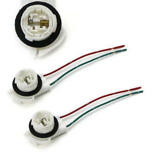 3156 2 Wire Harness Pre Wired Sockets For Repair Replacement Install Led Bulbs