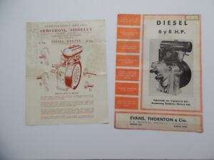 C 1950 Armstrong Siddeley Compression Ignition Air Cooled Engine Brochure Lot Uk