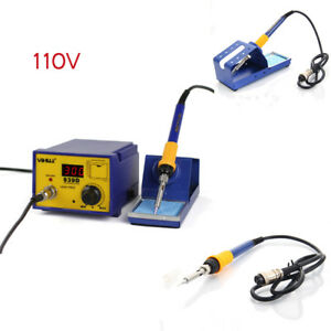 939d 110v 60w Smd Electric Station Soldering Iron Welding Tool Esd W Base Stand