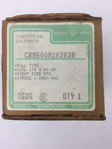 Ge Cr9500a102b2a Solenoid Pull Type 115v 60hz Right Side Mtg Stroke 1 Inch Max