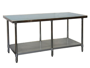 New 24 X 96 Stainless Steel Work Table Nsf Heavy Duty 7814 Restaurant Prep Food