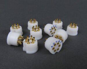 10 Augat Teflon Transistor Sockets Gold To 5 Package Turret Style 6 Pos