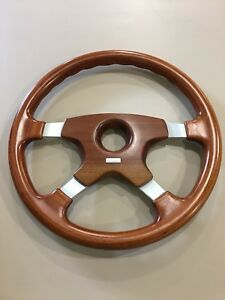 Nos 1985 Vintage Momo Astra Wood Steering Wheel