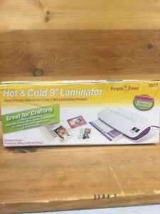 9 Hot And Cold User Friendly Laminator Machine 3 Mil And 5 Mil With 50 Pouches
