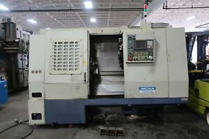 16 x24 Hwacheon Hi eco35 3 axis Cnc Turning Center Lathe With C axis