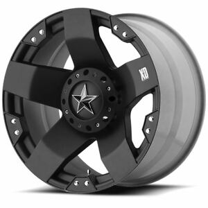 4 New 17x8 10 Kmc Xd775 Rockstar Matte Black Wheels Rims 8x165 1