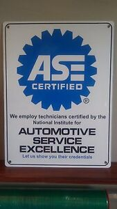 Ase Certified Aluminum Sign 18 X 24