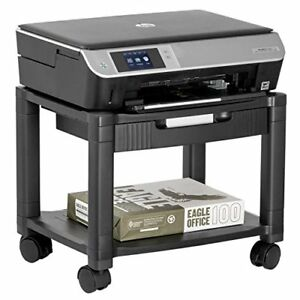 Halter Lz 306a Mini Rolling Printer Cart Machine Stand With Cable Management