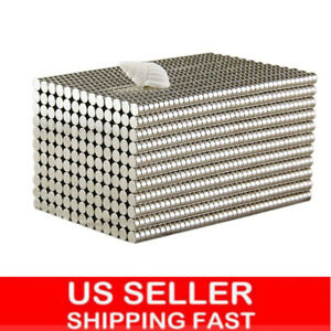 Lot 5 200 Super Strong 3 4in 1 16in Round Disc Neodymium Magnets Rare Earth