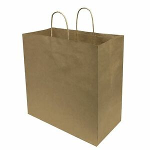 Artpack 02 15 3 023l Brown Kraft Paper Carry Bags With Twisted Handles 65pcs