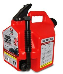 Surecan Sur22g1 Gas Can Plastic 2 2 Gallon