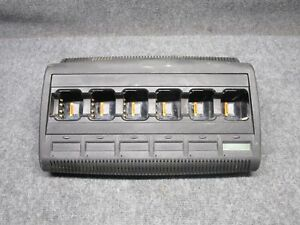 Motorola Impres 6 bay Battery Charger Wpln4218a tested