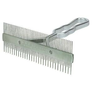 Weaver Livestock 2 Sided Aluminum Handle Comb Works As Fluffer And Show Comb