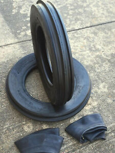 Two 400x8 4 00 8 Front 3 Rib Garden Cub Cadet Easy Steer Tractor Tires W tubes