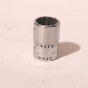 Snap On 1 4 Drive 12 Point Metric 11 Mm Flank Drive Shallow Socket Tmmd11