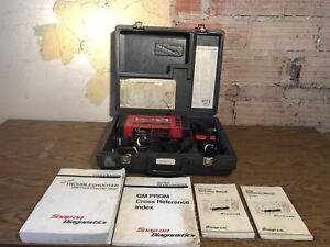 Snap On Mt2500 Diagnostic Scanner W Cartridges Manuals Cords Used Free Ship
