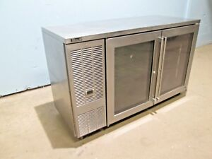 perlick Hd Commercial nsf Under Counter 2 Glass Doors Back Bar Refrigerator