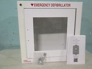 new In Box modern Metal Products Wall Mounted Emergency Aed Cabinet W alarm