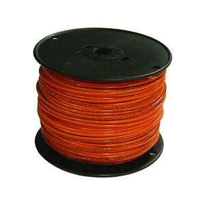 Encore 18 Awg Tfn Solid Copper Wire 500 Ft Spool In Red