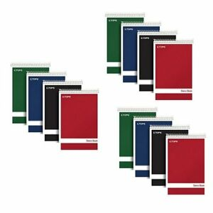 Tops Steno Books 6 X 9 Gregg Rule Green Tint Paper Assorted Color Covers