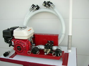 New Honda Engine Gas Powered Bulk Oil waste Oil Pump 25 Gpm w Complete Hose Kit