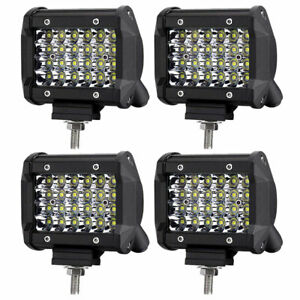 4x18w Cube Pods Flood Lamp Led Work Lights For Offroad Atv Jeep Car Ute Truck 4